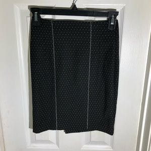 Bebe White Dots on Black Skirt with Cute Buttons 0